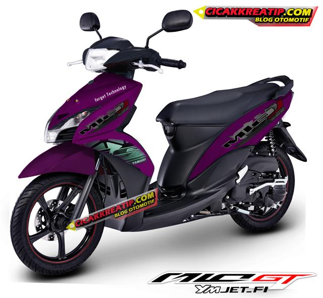 contoh modifikasi mio warna ungu