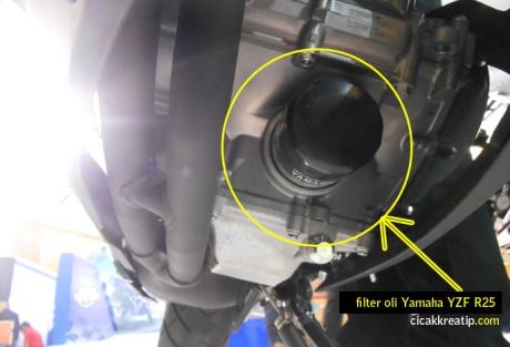 posisi filter oli yzf r25