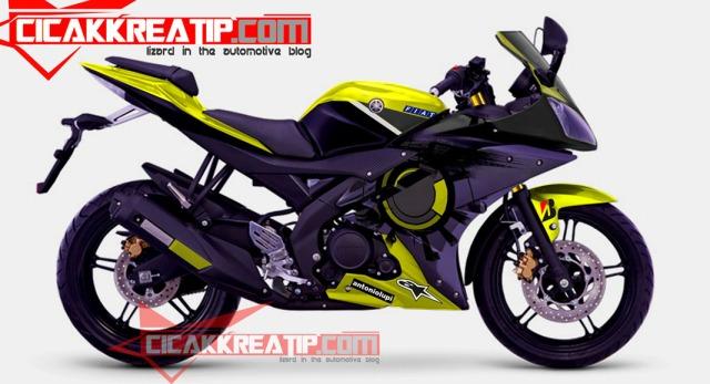 Yamaha YZF-R15 2014 Midnight Black (Hitam) Samping