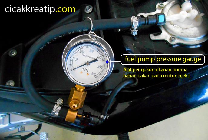 fel pump pressure gauge - hal utama