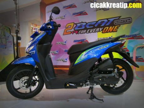 honda beat pop biru