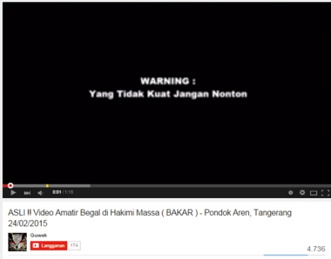 video pembakaran begal pondok aren