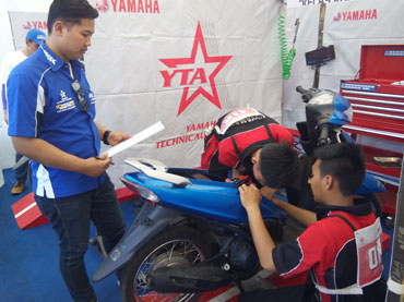 Kontes SMK di event Blue Core Yamaha Motor Show (BYMS) 2015 (3)