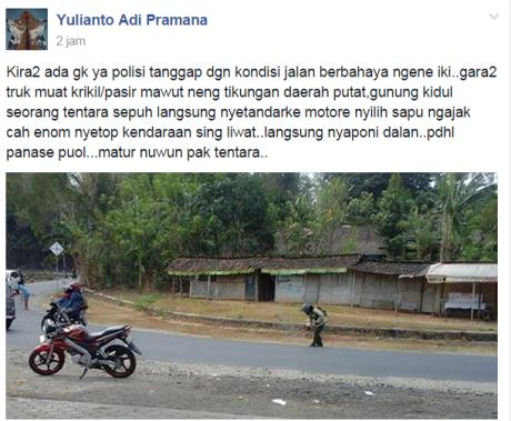 tentara-biker-nyapu-jalanan