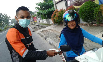 YRFI Bangka bagi-bagi masker redam asap (1)