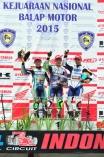Trio Yamaha naik podium (Hendriansyah juara nasional tampak kiri) di kelas Sport 250cc Seri 5 Indonesia Road Racing Championship
