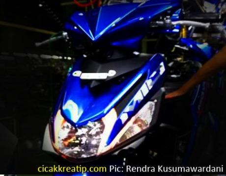 foto mio m3 warna biru baru