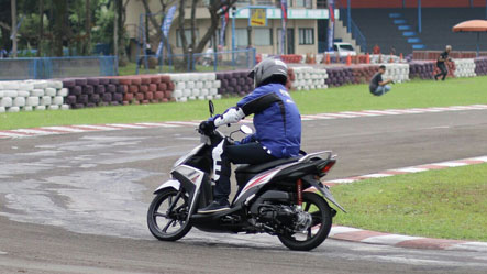 Test ride Mio Z di Sentul Karting International Circuit (2)